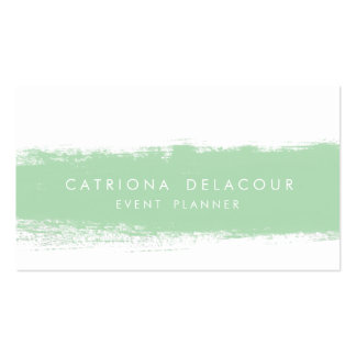 Mint Abstract Watercolor Splash Business Card