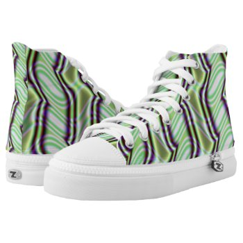Mint Alley Fractal High-Top Sneakers