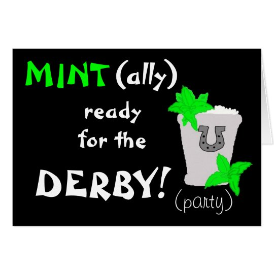 MINT(ally) ready for the DERBY! party invite