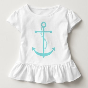 Beach Themed Mint Anchor Nautical Design Toddler T-shirt