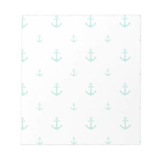 Mint Anchor Notepad