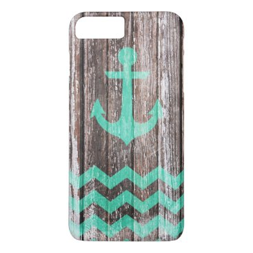 Mint Anchor on old wood iPhone 8 Plus/7 Plus Case