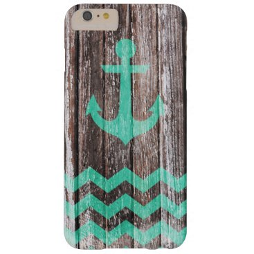 Mint Anchor on old wood Barely There iPhone 6 Plus Case