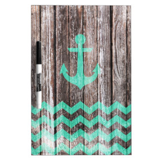 Mint Anchor on old wood Dry Erase Board