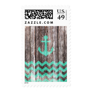 Mint Anchor on old wood Stamps