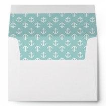 Mint Anchors Pattern Envelope