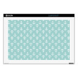 "Mint Anchors Pattern Skin For 17"" Laptop"
