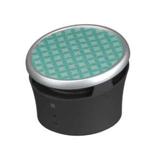 Mint and Aqua Geocircle Design Bluetooth Speaker