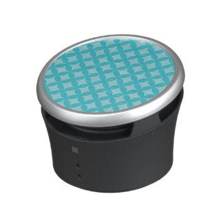Mint and Blue Geocircle Design Bluetooth Speaker