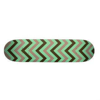 Mint and Brown Skate Board Decks