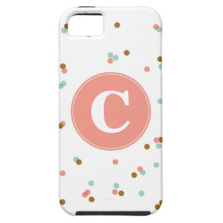 Mint and Coral Confetti iPhone Case iPhone 5 Covers