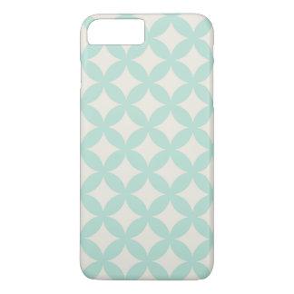 Mint and Cream Geocircle Design iPhone 7 Plus Case