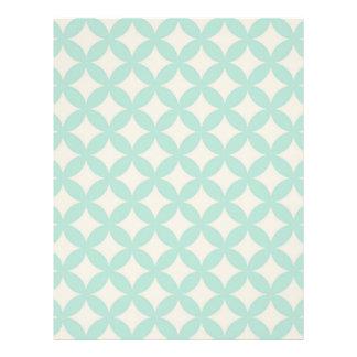 Mint and Cream Geocircle Design Letterhead