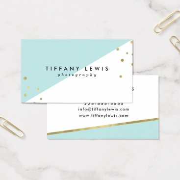 Professional Business Mint and Gold Business Cards