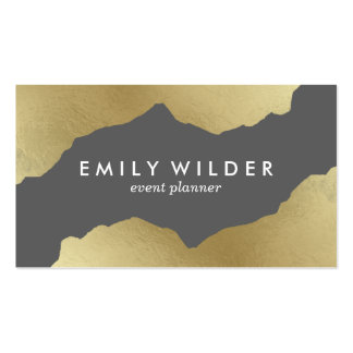 Mint and Gold Dipped | Business Card