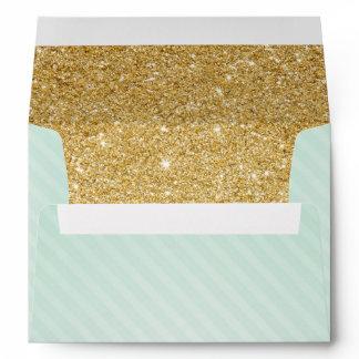 Mint and Gold Envelopes, Twinkle Little Star Envelope