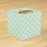 Mint And Gold Heart Polka Dot Party Favor Boxes