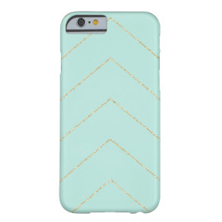 Mint and Gold Stripe Pattern Barely There iPhone 6 Case