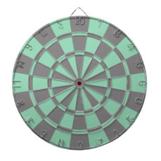Mint And Gray Dart Board