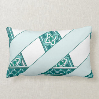 Mint and Green Celtic Clover and Flower Ribbon Pillow