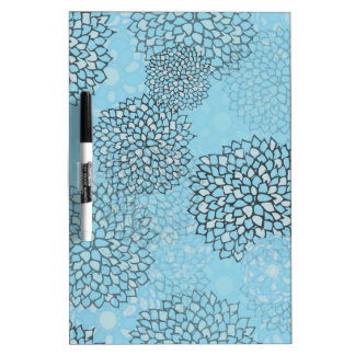 Mint and Grey Flower Burst Design Dry-Erase Board