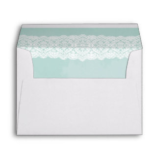Mint and lace envelope