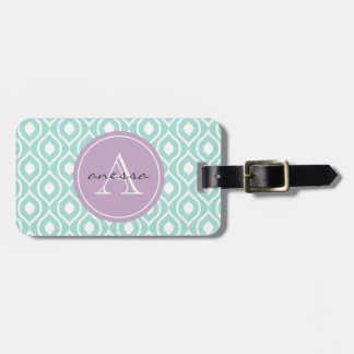 Mint and Lilac Gail Print Tags For Bags
