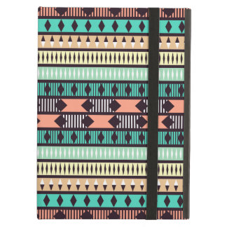 Mint and Peach Aztec Pattern Case For iPad Air