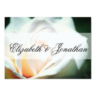 Mint and Peach Rose Wedding Custom Invitation