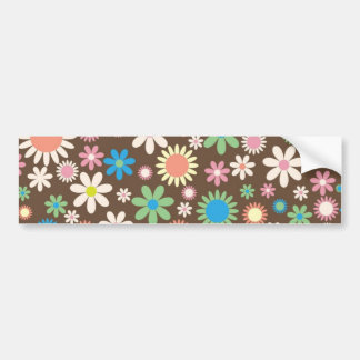Mint and Pink Chocolate Flowers Car Bumper Sticker