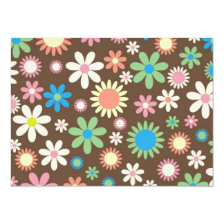 Mint and Pink Chocolate Flowers Card