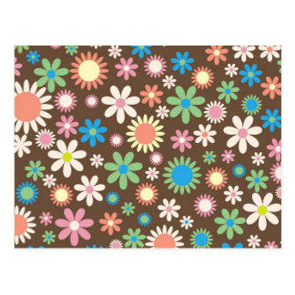 Mint and Pink Chocolate Flowers Postcard