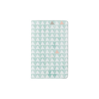 Mint and Triangles Moleskin Cover Pocket Moleskine Notebook