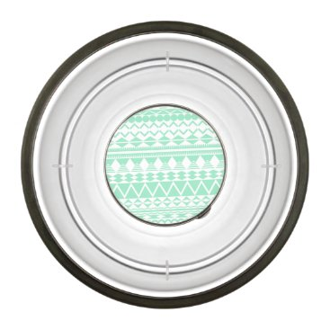 Aztec Themed Mint and White Aztec Pattern Bowl