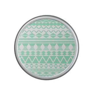 Mint and White Aztec Pattern Speaker