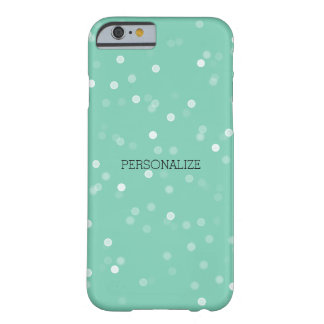 Mint and White Bokeh Confetti Barely There iPhone 6 Case