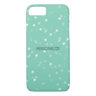 Mint and White Bokeh Confetti iPhone 8/7 Case