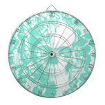 Mint and white lace skull dartboards