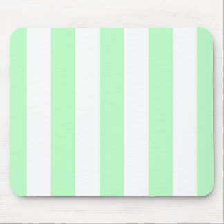 Mint and White XL Stripes Pattern Mouse Pad