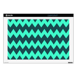 "Mint - Aqua Chevron Decal For 17"" Laptop"