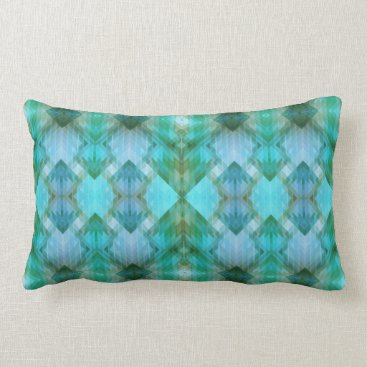 Aztec Themed Mint Aztec Inspired Geometric Pattern Pillow