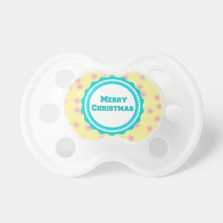 Mint Baby's First Merry Christmas  Pacifier BooginHead Pacifier