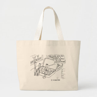 Mint Bed Large Tote Bag