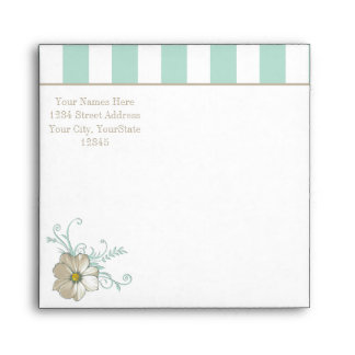 MINT BISQUE DOTS STRIPES Envelope
