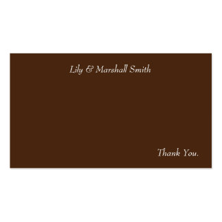 Mint Blossom Thank You Card Double-Sided Standard Business Cards (Pack Of 100)