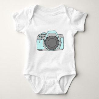 Mint Blue Camera Baby Bodysuit