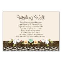 Mint Boho Rustic Wedding Shower WISHING WELL CARD