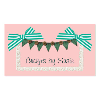 Mint bow custom color crafts sewing business card template