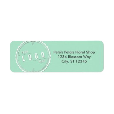 Professional Business Mint Business Logo Address Labels