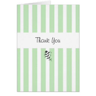 Mint Candy Stripes Thank You Card